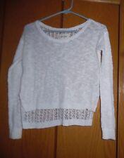 Girls Abercrombie White sweater size Medium