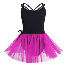 Kids Girls Ballet Tutu Dress Gymnastics Leotard Skirt Party Dance Wear Costumes