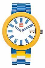 Lego 9008016 Brick Blue Yellow Multi Color Plastic Quartz Adult Watch