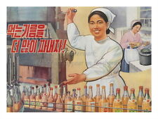 "North KOREA Anti-American Propaganda Poster Print FOOD PRODUCING 18x24"" #NK034"