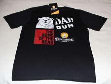 Bundaberg Rum Home of Bear Mens Black Printed Short Sleeve T Shirt Size XXL New
