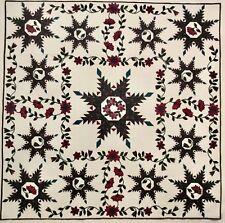 "Lotus Blossom Appliqué Quilt Pattern 96 x 96"" & 60 x 60"" Paducah Winner 1994"