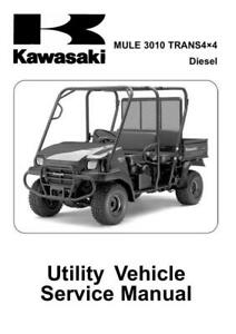 Kawasaki-Mule-3010-Trans-4X4-Diesel-KAF950-E8F-2008-2010 Workshop Manual