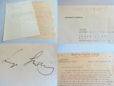 DIRIGENT Leopold LUDWIG (1908-1979): Brief BERLIN 1948 an SÄNGERIN v. Schrabisch