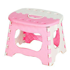 Muti Purpose Plastic Foldable Folding Step Stool Handy Chair Home Outdoor Travel