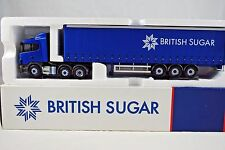 Corgi 1:50 CC12221 SCANIA Truck & CURTAIN Trailer in BRITISH SUGAR Livery MIB