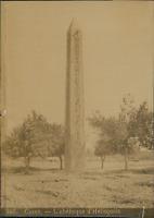 Egypte, Caire, Obélisque d'Héliopolis  Vintage albumen print. Tirage albu