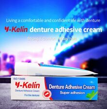 Y-Kelin Denture Adhesive Cream 40g Strong hold denture glue for full & partial