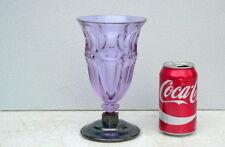1930s Art Deco Hussmann Moser Alexandrite Neodymium Glass Vase w silver base