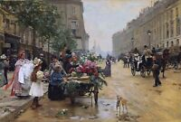 Rue Royale, Paris Painting by Louis Marie De Schryver Art Reproduction