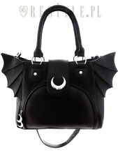 b771da2c5ae29a Restyle Elegant Goth Moon Bat Punk Emo Rocker NuGoth Black Hand Bag Purse
