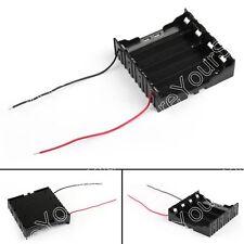 1Pcs 4x18650 Batería Soporte Estuche Almacenamiento Caso Caja Con Cable 14.8V
