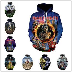 Iron Maiden 3D Printed Men Women Kids Hoodie Sweatshirt Jumper Pullover UK10