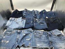 Bulk Clothing Lot: 10 Shorts Female Various Vintage Denim Size Medium/Large
