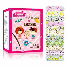 100pcs  Variety Patterns Bandages Cute Cartoon Band Aid For Kids waterproof WE9X
