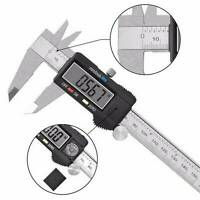 "6"" 150mm Carbin Fiber Electronic Digital Vernier Caliper Micrometer Gauge LCD"