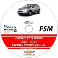 Chevrolet Traverse 2009 2010 2011 2012 Service Repair Manual on CD