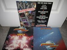 KISS KONFIDENTIAL PROMO FLAT GENE SIMMONS ACE FREHLEY COMET ALIVE CARR LOT OF 3