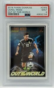2018 Panini Donruss Out of this World #OW6 - PSA MINT 9 - LIONEL MESSI Argentina