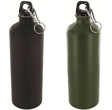 HIGHLANDER ALUMINIUM WATER BOTTLE – black or olive green camo metal - 500ml / 1L