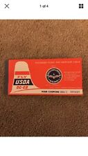 USOA AIR LINES UNITED STATES OVERSEAS AIRLINES DC-6B TICKET COUPON UNUSED 1950S
