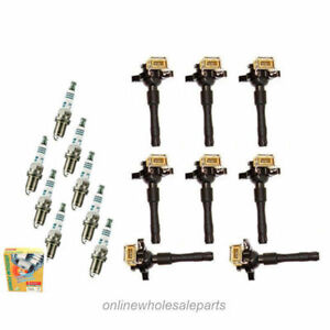 IGNITION COIL B321*8 Set 8 + 8 SPARK PLUG IC167 For 95-03 BMW E46 E39 X5 Z3 Z8