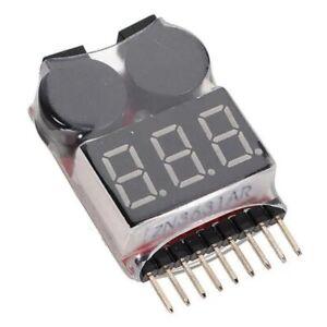 Lipo Alarm Piezo Tester Low Voltage Buzzer Checker Warner Saver Spannung 1-8s