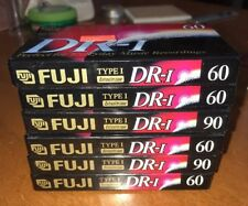 6-Fuji DR-I Normal Bias 60/90 Minutes Audio Cassette DR-1 Type 1 BRAND NEW