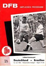Länderspiel Stuttgart, 16. Juni 68 Deutschland - Brasilien DFB