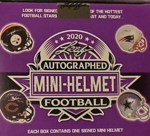 Pittsburgh Steelers Live Break 10 Boxes 2020 Leaf Autographed Mini helmets