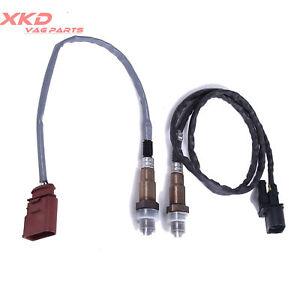 Oxygen O2 02 Sensor UPSTREAM&DOWNSTREAM Set For VW Beetle Golf Jetta 2.0L