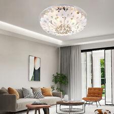 Luxury Crystal Chandelier Modern Flush Mount Ceiling Lamp LED Pendant Lighting