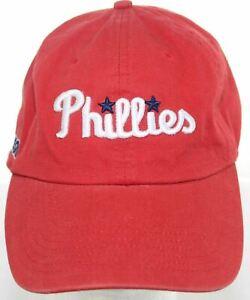 Vintage Philadelphia Phillies MLB Baseball Hat - W.B.Mason Co. Red Strapback Cap