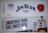 2 Mixed Jim Beam BOURBON / AFL Footy Stickers (2018) since 1795
