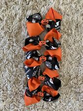 Halloween Themed Hair Bows W Attached Alligator Clip - (5 Bows)