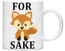 Funny Crude Rude Naughty FOX 11oz Mug with Slogan Front and Back Gift Boxed
