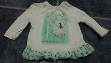 Baby girl white fairy long sleeve top size 0-3 mths by F&F