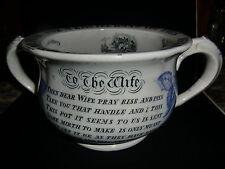 Early 19th Century Motto Transfer Chamber Pot - circa 1830-40