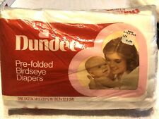 Vintage Dundee 12 Cloth Diapers Birdseye Weave New In Package 100 Cotton Prefold