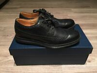 Cole Haan LunarGrand Long Wing Tip Leather Black Men's 7 C13737 Brand New In Box