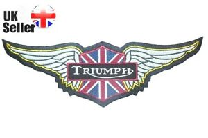 Triumph Wings Large patch Iron on/sew on 29.5 X 9.5cm