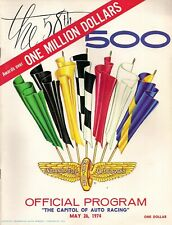 1974 INDY 500 OFFICIAL PROGRAM- GORDON JOHNCOCK 1973 WINNER - STP RACING #20