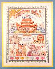 Noahs Ark Baby Birth Record Cross Stitch Kit 40527 Bucilla 1990 Free Shipping