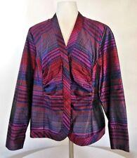 Coldwater Creek Women's Size PL Silk Blend Button Down Shirt Striped Career J