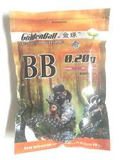 0.20g GoldenBall Pro Series Seamless Airsoft Gun BBs - 4000rd Bag - BLACK NEW