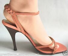 Authentic FENDI Women's Leather Sandals Sz 37.5, Made In ITALY