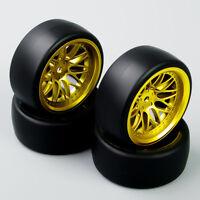 4X 6MM Offset Drift Tires&Wheel Rim BBG For HPI HSP RC 1:10 On-Road Racing Car