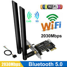 2030Mbps 5Ghz Dual Band WiFi PCIE Card PCI-E X1 Wireless Bluetooth 5.0 Adapter