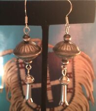 Squash Blossom Earrings Native American Sterling Silver