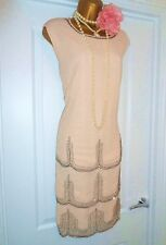 Vintage 1920s Style Gatsby Flapper Charleston Sequin Beaded Dress Size 18